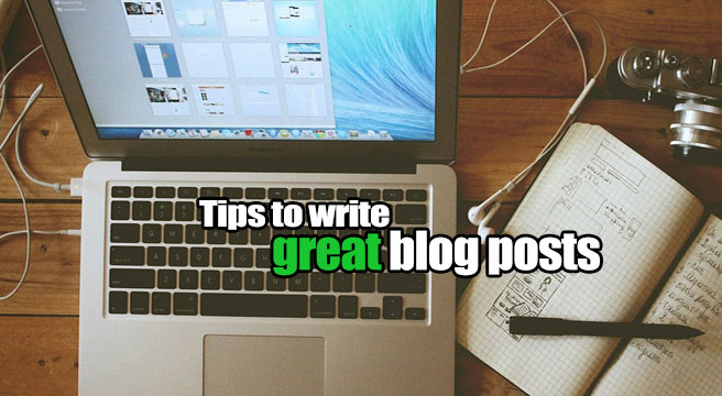 write good blog posts