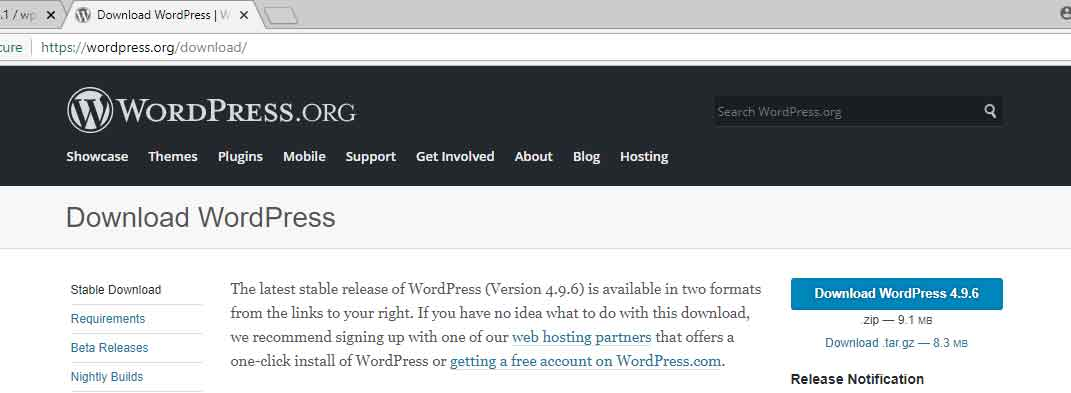 wordpress website on pc