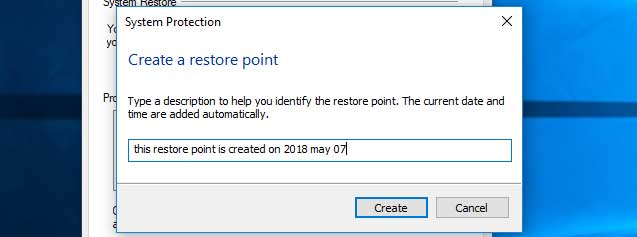 how to add restore point