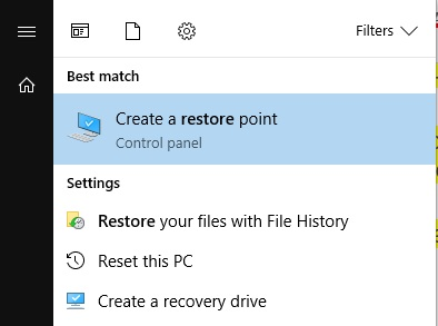 how to create restore points