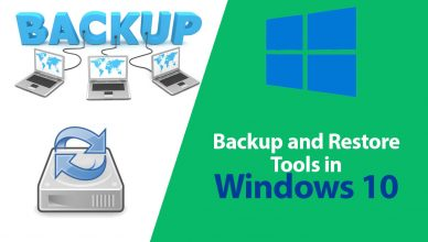 backup and restore tools in windows 10