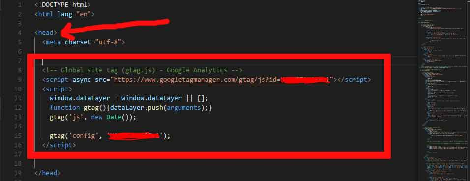 how to add google analytics to html website