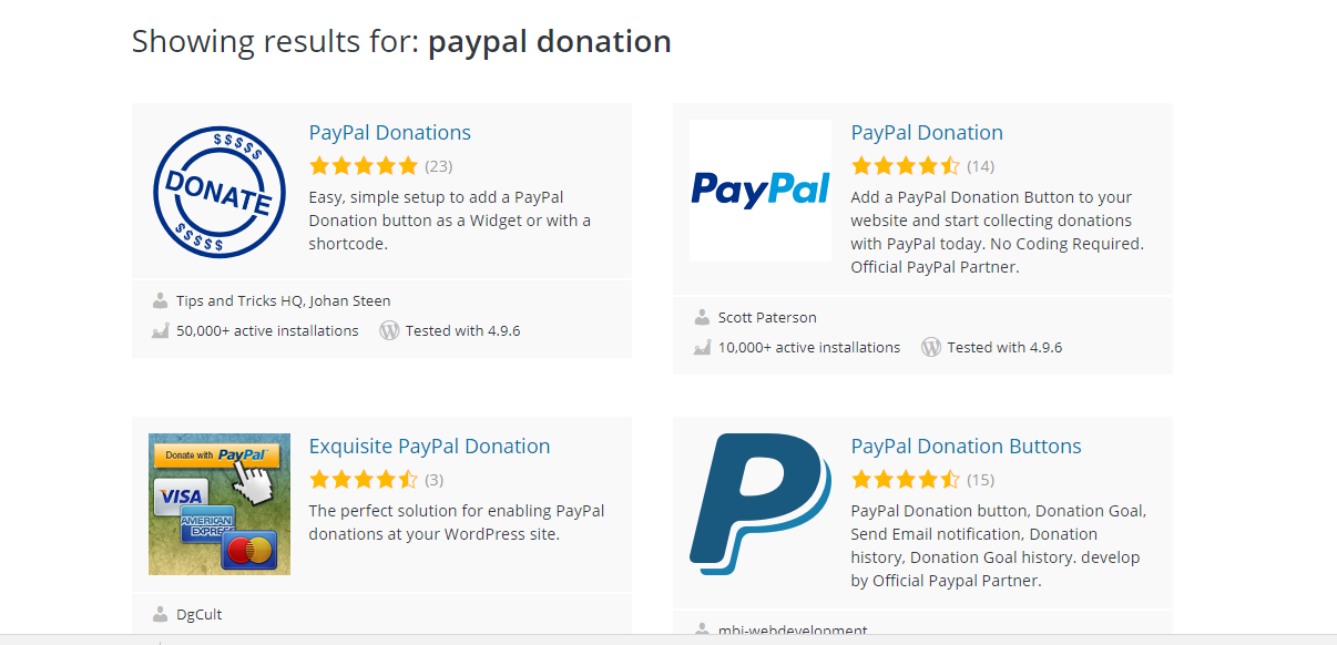 paypal donate button add to website