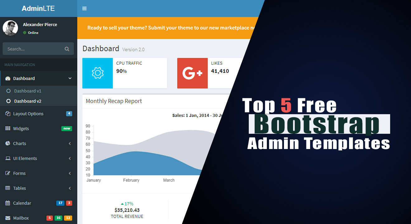 Top 5 free Bootstrap Admin templates 2018 - Tech Siren
