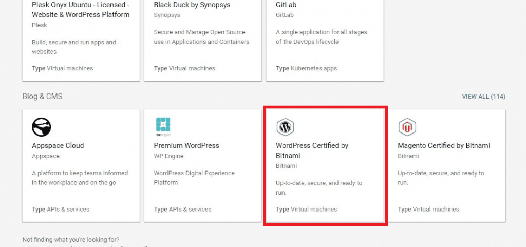 wordpress by bitnami